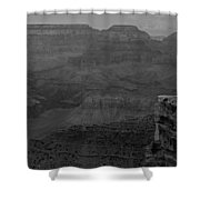 The Grand Canyon In Black And White Shower Curtain