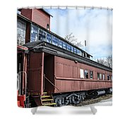The Grand Trunk Western Depot  Shower Curtain
