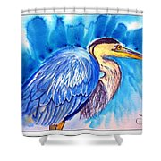 The Great Blue Heron Shower Curtain