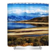 The Great Salt Lake Shower Curtain