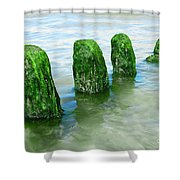 The Green Jetty Shower Curtain