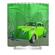 The Green Machine Shower Curtain