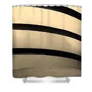 The Guggenheim In Sepia Shower Curtain