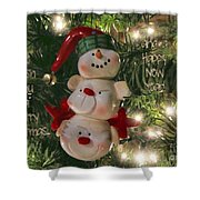 The Happy Snowman Shower Curtain