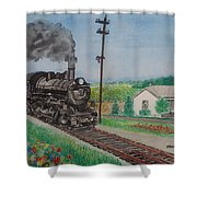 The Hillsboro Local Passing My Birthplace At Sardinia Shower Curtain