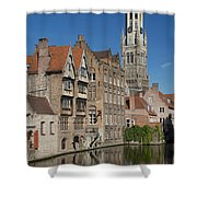 The Historic Center Of Bruges Shower Curtain