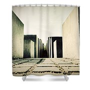 The Holocaust Memorial Berlin Germany Shower Curtain