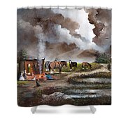 The Horse Traders Shower Curtain