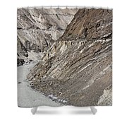 The Hunza River In Pakistan Shower Curtain