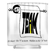 The I In Team Shower Curtain