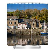 The Inner Harbour At Padstow Shower Curtain