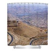 The King's Highway At Wadi Mujib Jordan Shower Curtain by Robert Preston