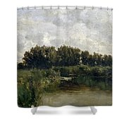 The Lake In Friesland Shower Curtain