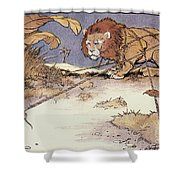 The Lion And The Mouse Shower Curtain