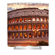 The Majestic Coliseum - Rome - Italy Shower Curtain