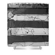 The Max Face In Black And White Shower Curtain
