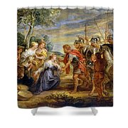 The Meeting Of David And Abigail Shower Curtain