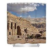 The Monastery El Deir Or Al Deir Shower Curtain