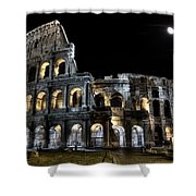 The Moon Above The Colosseum No2 Shower Curtain