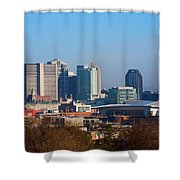The Nashville Skyline As Viewed Shower Curtain