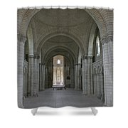 The Nave - Cloister Fontevraud Shower Curtain