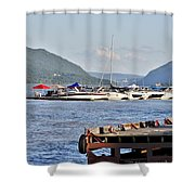 The Newburgh Water Front Shower Curtain