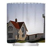 The Nubble Light Shower Curtain