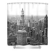 The Ny Financial District Shower Curtain