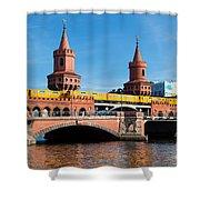 The Oberbaum Bridge In Berlin Germany Shower Curtain
