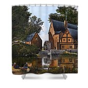 The Old Mill Shower Curtain by Ken Wood