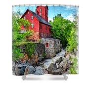 The Old Red Mill Jericho Vermont Shower Curtain