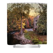 The Old Stone Mill Shower Curtain