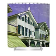 The Painted Ladies Of Cape May Shower Curtain
