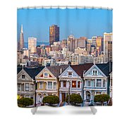 The Painted Ladies Of San Francisco Shower Curtain