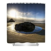 The Rock Shower Curtain by Debra and Dave Vanderlaan