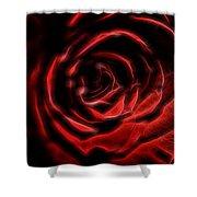 The Rose Digital Art Shower Curtain