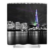 The Shard Lasers Shower Curtain