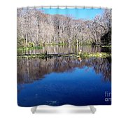 River - Reflection Shower Curtain