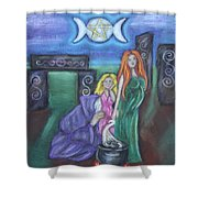 The Silvery Moon Shower Curtain