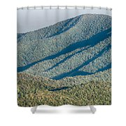The Simple Layers Of The Smokies At Sunset - Smoky Mountain Nat. Shower Curtain