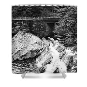 The Sinks Smoky Mountains Bw Shower Curtain