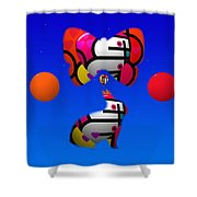 The Sky At Night Shower Curtain