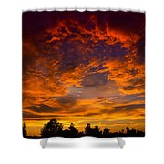The Sky Is On Fire  Shower Curtain