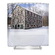 The Stone Mill At The Enfield Shaker Museum Shower Curtain