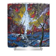 The Stream Of Light Shower Curtain