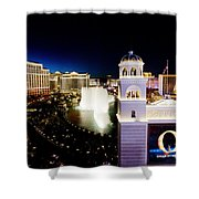 The Strip At Night Shower Curtain