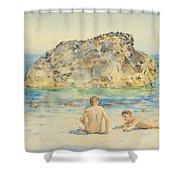The Sunbathers Shower Curtain