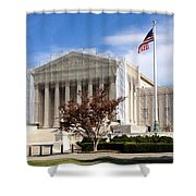 The Supreme Court Facade Shower Curtain