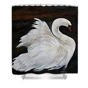 The Swans Of Albury Manor I Shower Curtain