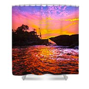 The Tanah Lot Temple - Bali - Indonesia Shower Curtain